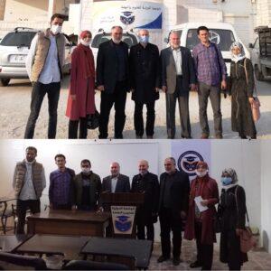 جانب من زيارة إدارة مؤسسة Azez Yunus Emre Enstitüsü للجامعة