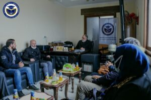 جانب من الزيارة التي قامت بها اسرة Azez Yunus Emre Enstitüsü للجامعة